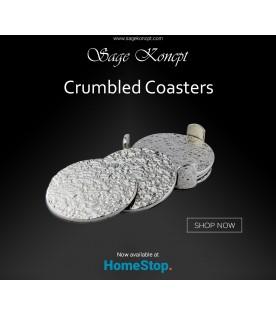 Crumbled Coasters