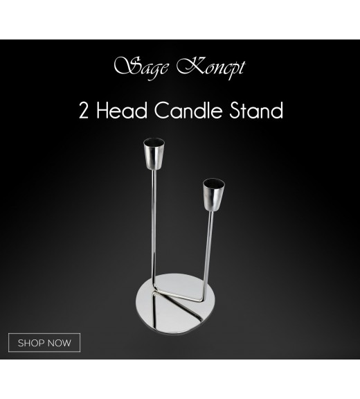 2 Head Candle Stand